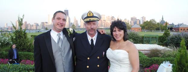 Captain Davis Performing Wedding at Liberty House, Jersey City, NJ